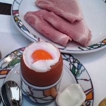*丹波地鶏の半熟卵