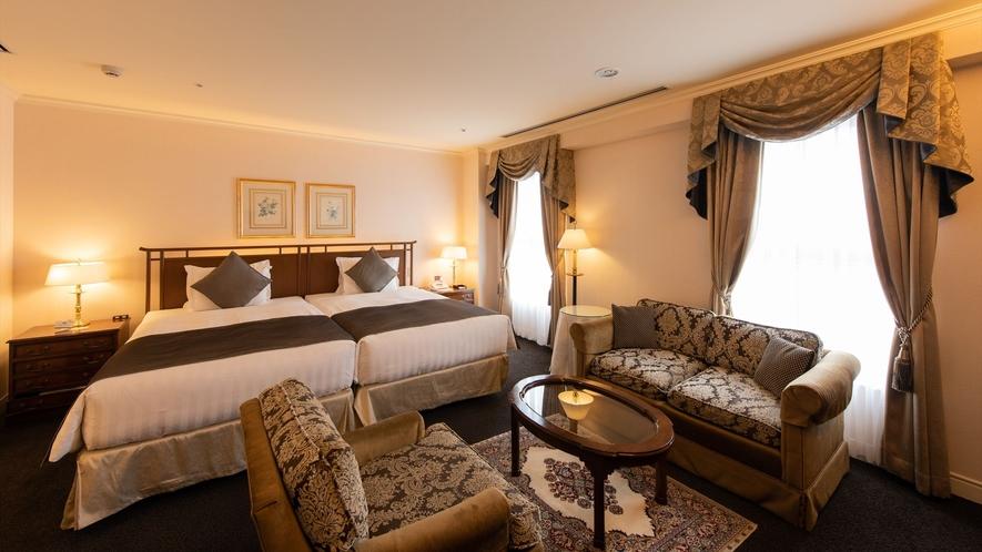 <プレジデンシャルツイン>多彩な客室の中でも最上の心地よさを約束するお部屋。