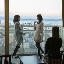 【センターウイング館 和洋室44㎡】伊東の高台に位置しており、海まで一望できます!