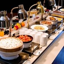 【朝食☆和洋バイキング】朝も本気で食べちゃう?約40種の満足バイキングです! ※一例