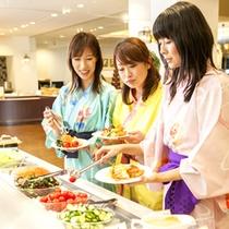 【海鮮ディナーバイキング】シャキシャキ新鮮野菜は美容にも大切!