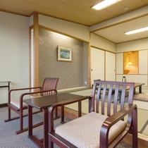 【センターウイング館 和洋室44平米】広々和室は布団が5枚まで敷けます!