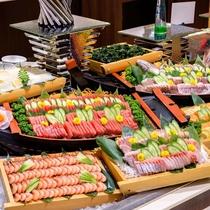【海鮮ディナーバイキング】地魚含むお造り盛合せ!お酒にもご飯にもピッタリ!