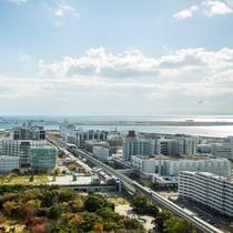 神戸空港側からの眺望
