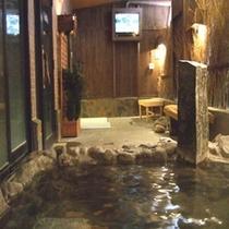 ◆【大浴場】『男性露天風呂』※男性露天風呂のみテレビを設置しております。