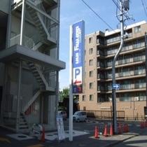 ◆【駐車場】ホテル駐車場(ホテル裏口側)