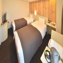 ◆【客室】ツインルーム※シャワーブースのみ 広さ18平米 定員1~2名様※お子様の添寝は2名まで可能