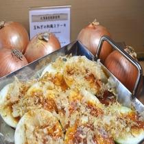 ◆【朝食】玉ねぎの輪切りをバーベキュー風に調理した『玉ねぎの和風ステーキ』