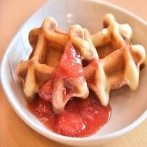 ◆【朝食】食後のデザートに『ワッフル』はいかが♪