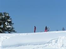 快晴のスキー場
