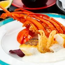 【贅沢会席】伊勢海老と真鯛のポアレ クリームソース添え(イメージ画像)