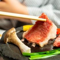 【おにやま会席】海鮮と豊後牛の陶板焼き(イメージ画像)