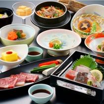 【スタンダード会席】旬素材や地元産食材を使用した会席(一例)