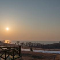 ホテルからの景色(夕陽)