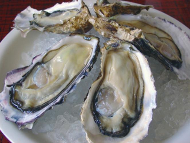 殻付き活牡蠣
