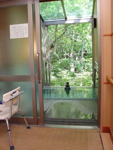 貸切家族風呂長寿の湯(掘り込み式浴槽)