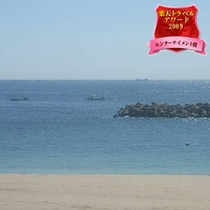 当館の目の前の千鳥ヶ浜です。鳥羽十景にも選ばれている綺麗な砂浜です。