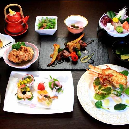 1泊3食付きプラン会席(一例)_伊勢海老を使用した料理は、このプランでのみご賞味頂けます。