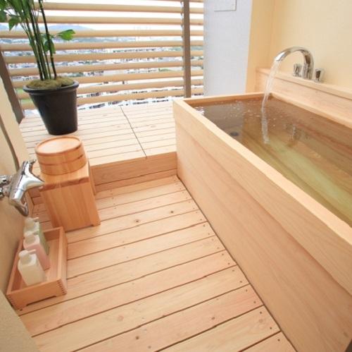 半露天風呂一例 ※客室のお風呂は温泉ではありません、予めご了承ください。