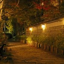 *当館横の小路。夜はとても雰囲気があります!お風呂上りに散策などいかがですか♪