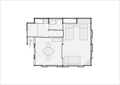 湯ノ原(本館) Yunohara 洋室8帖+ベッドルーム