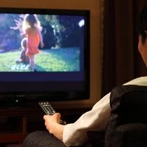 大画面のテレビ(VODシステム付)