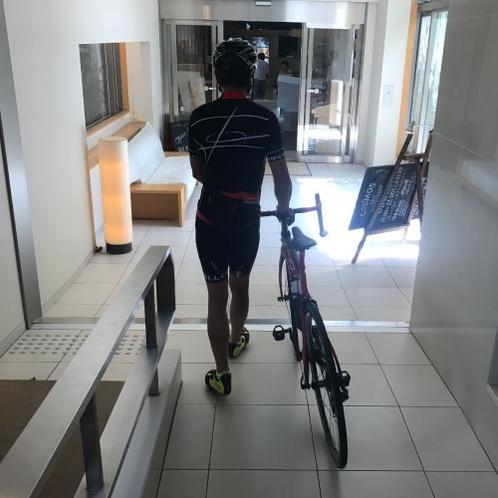 サイクリング応援!お部屋への自転車持込み可能