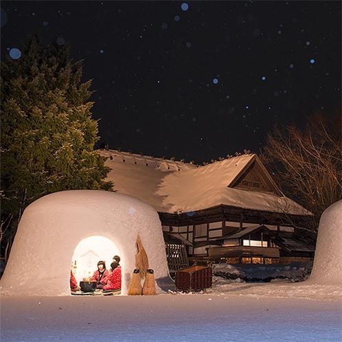 【冬】横手のかまくらは毎年2月15・16日の開催。水神様を祀る横手の伝統小正月行事