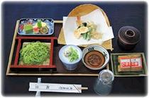 天ざる定食(鰻いいむし付き)