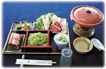 鴨鍋定食(鰻いいむし付き)