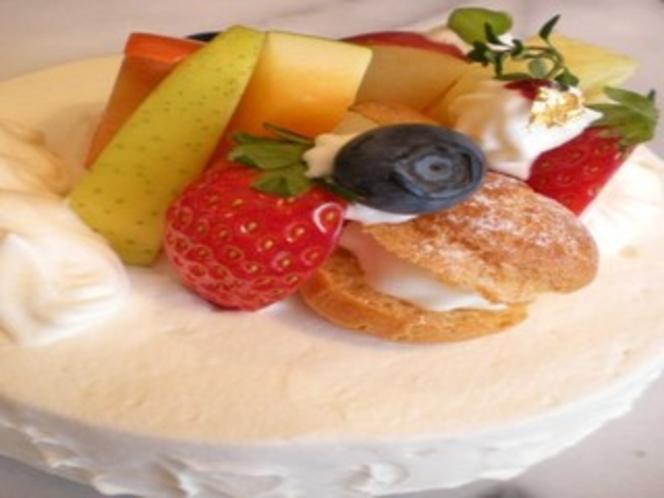 記念日ケーキ。