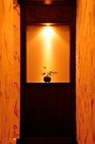 7号室入り口のニッチ。