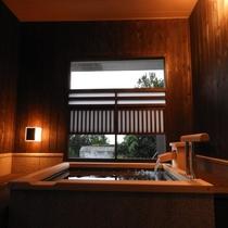 和洋室アジアンの客室露天風呂