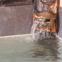 *【風呂(大浴場・男湯)4】源泉をそのままかけ流ししているので、飲泉もOK!