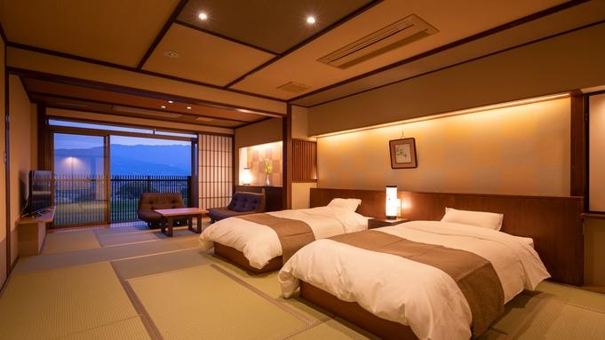 【和モダンのベッドルーム♪檜内風呂付準特別室で過ごす】旬のグルメを堪能<雅コース>