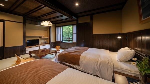 本館3F和洋室ツイン【九重】和6畳+洋4畳 貸切風呂無料