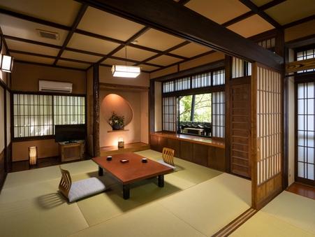 本館2F 広め和室二間【梅】和6畳+和8畳 貸切風呂無料