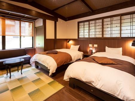 本館2F洋室ツイン【滝】10畳 貸切風呂無料