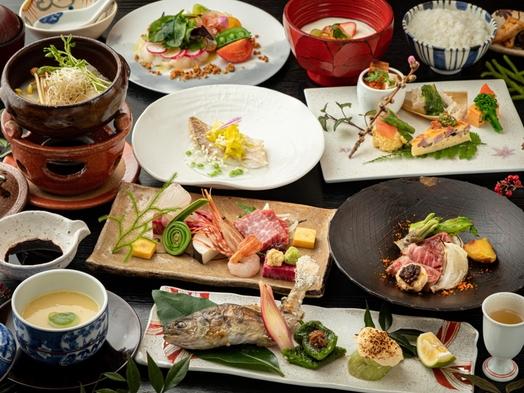 【日本名湯秘湯百選宿】熊本の四季を堪能する会席料理♪霜降馬刺と阿蘇王牛ステーキ付