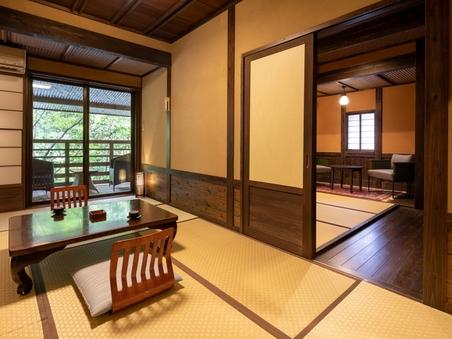 本館2F和室二間【ばら】和7畳+和5畳 貸切風呂無料
