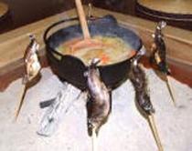 岩魚串焼きと鍋物