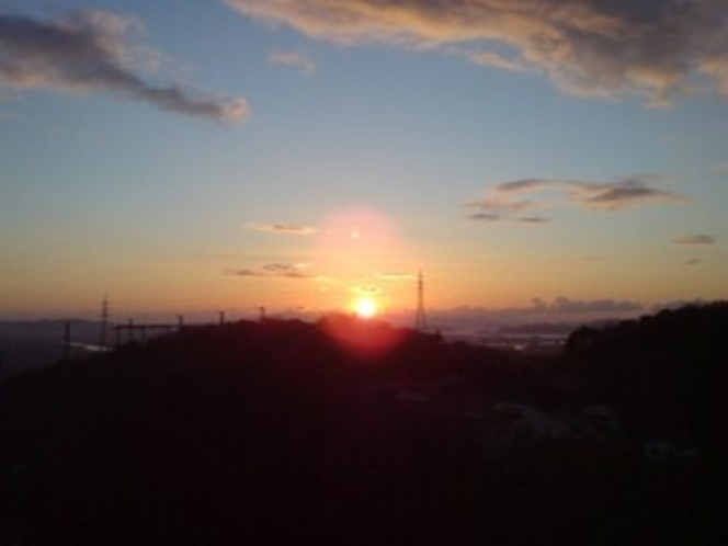 屋上から見た初日の出
