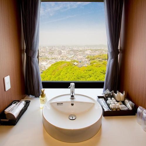 12階フロア和洋室(和室サイド)洗面台