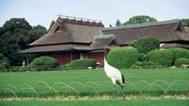 日本三大名園のひとつ岡山後楽園。岡山駅から直通バス(大人100円)片道10分。