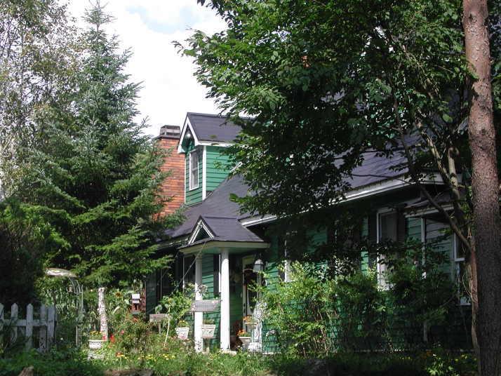 林に佇むアーリーアメリカンの緑の館