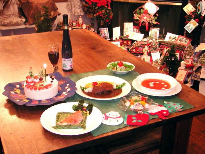 クリスマスディナー&デコレーションケーキ