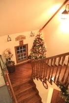 館内はクリスマスムード