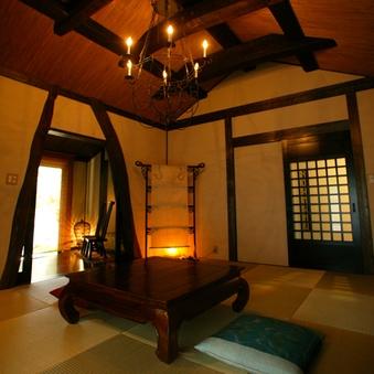 [離れ・露天風呂付客室]◆雨音◆岩露天+専用庭+和室+広縁