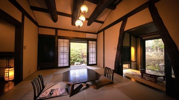 [離れ・露天風呂付客室]◆葉隠◆岩露天+専用庭+和室+広縁