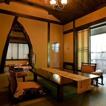 [離れ・露天風呂付客室]◆花筐◆岩露天+専用庭+和室+広縁